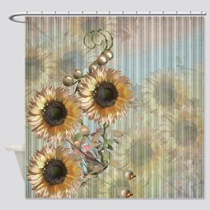 Country Sunflowers Shower Curtain