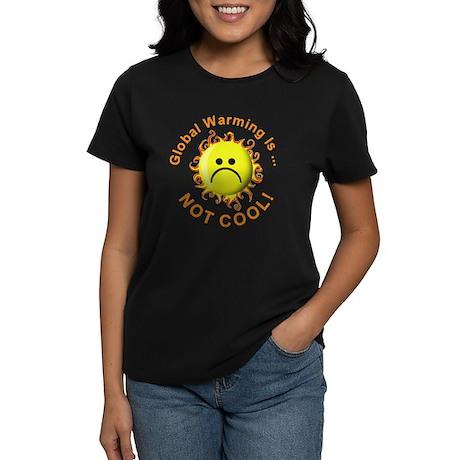 Stop Global Warming (Front) Women's Dark T-Shirt