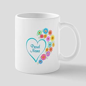 Proud Nana Heart Mugs
