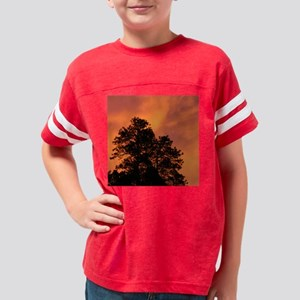 Fire in the Sky - Square Youth Football Shirt