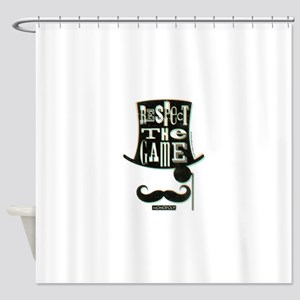 Monopoly Respect The Game Shower Curtain