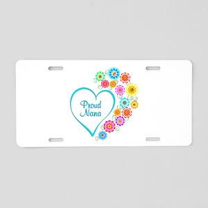 Proud Nana Heart Aluminum License Plate