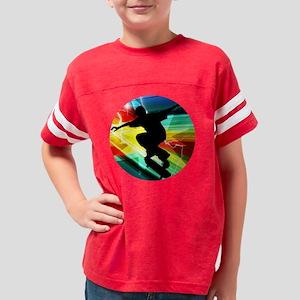Skateboarding on Criss Cross  Youth Football Shirt