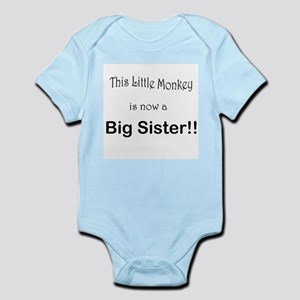 Little Monkey Big Sister 3 Infant Bodysuit