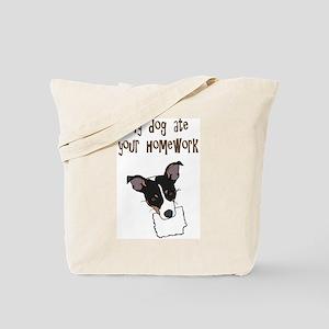dog ate your homework Tote Bag