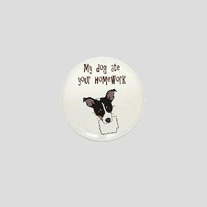dog ate your homework Mini Button