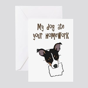 dog ate your homework Greeting Cards (Pk of 10