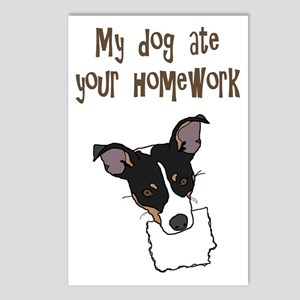 dog ate your homework Postcards (Package of 8)