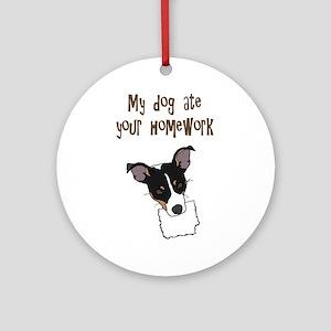 dog ate your homework Ornament (Round)