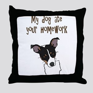 dog ate your homework Throw Pillow