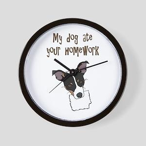 dog ate your homework Wall Clock