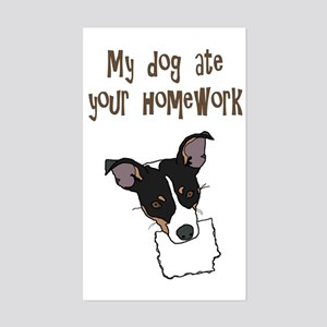 dog ate your homework Rectangle Sticker