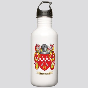 McAulay Coat of Arms - Family Crest Water Bottle