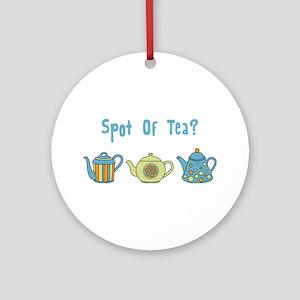 Spot Of Tea Ornament (Round)