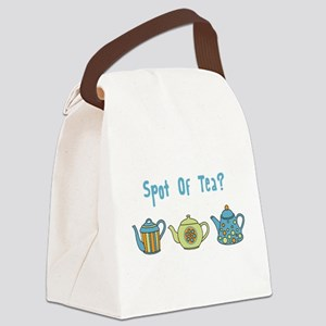 Spot Of Tea Canvas Lunch Bag