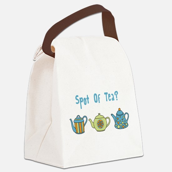 Spot Of Tea Canvas Lunch Bag