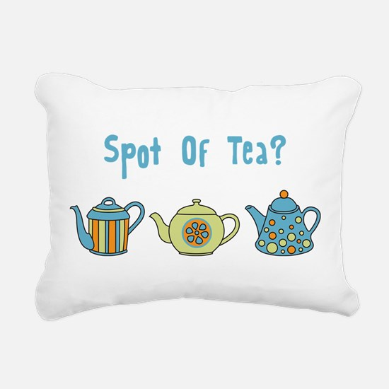 Spot Of Tea Rectangular Canvas Pillow