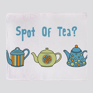 Spot Of Tea Throw Blanket