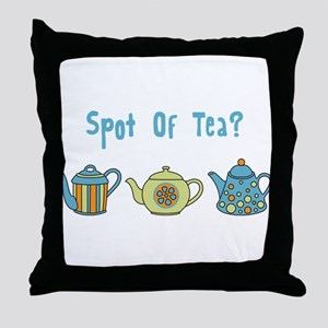 Spot Of Tea Throw Pillow