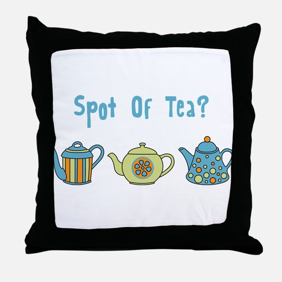 Spot Of Tea Throw Pillow