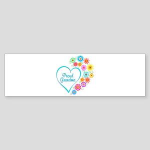 Proud Grandma Heart Bumper Sticker