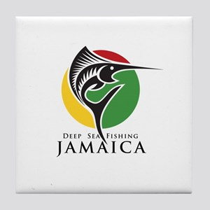 Deep Sea Fishing Jamaica Tile Coaster