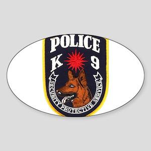 SPS Canine Oval Sticker