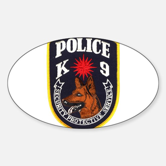 SPS Canine Oval Decal