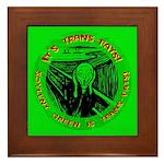 Soylent Green is trans-fats Framed Tile