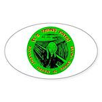 Soylent Green is trans-fats Oval Sticker