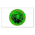 Soylent Green is trans-fats Rectangle Sticker