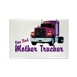 One Bad Mother Trucker Rectangle Magnet (100 pack)