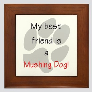 My best friend is a Mushing Dog Framed Tile