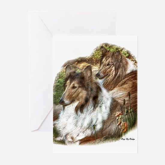 Rough Collie Art Gifts Greeting Cards (Package of