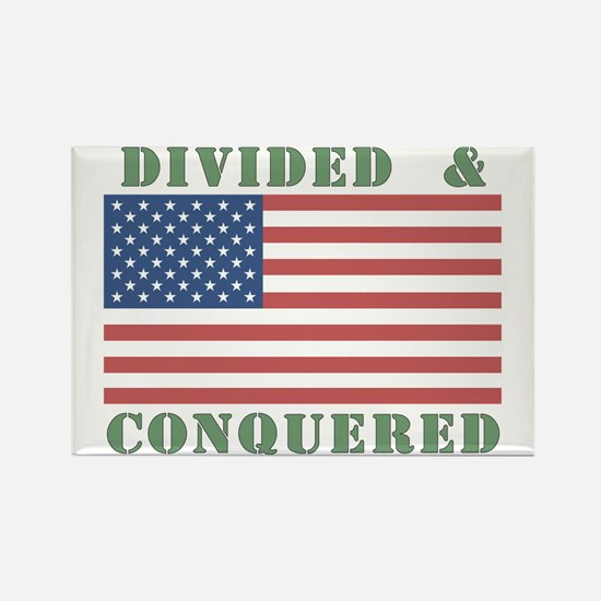 Divided & Conquered Rectangle Magnet