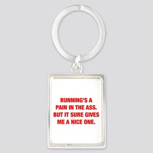 RUNNINGS-A-PAIN-HEL-RED Keychains