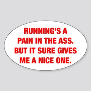 RUNNINGS-A-PAIN-HEL-RED Sticker