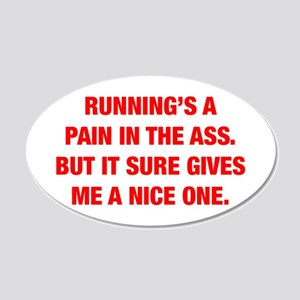 RUNNINGS-A-PAIN-HEL-RED Wall Decal