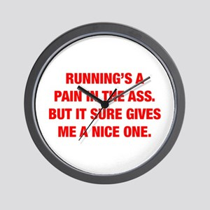RUNNINGS-A-PAIN-HEL-RED Wall Clock