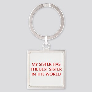 my-sister-OPT-RED Keychains