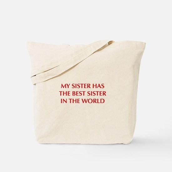 my-sister-OPT-RED Tote Bag