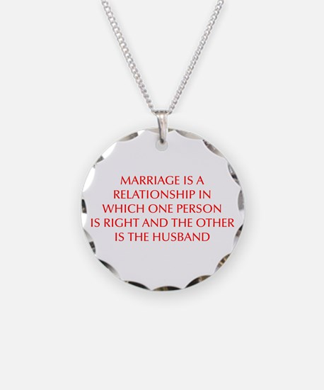 marriage-is-a-relationship-OPT-RED Necklace