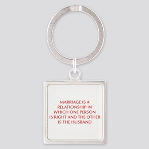 marriage-is-a-relationship-OPT-RED Keychains