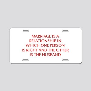 marriage-is-a-relationship-OPT-RED Aluminum Licens