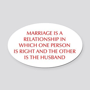 marriage-is-a-relationship-OPT-RED Oval Car Magnet