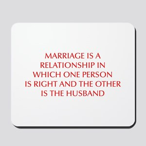 marriage-is-a-relationship-OPT-RED Mousepad