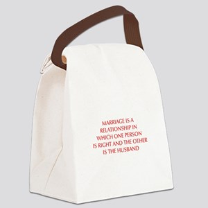 marriage-is-a-relationship-OPT-RED Canvas Lunch Ba