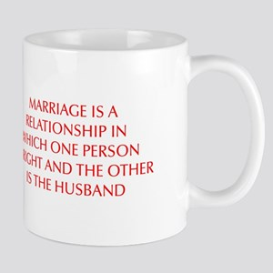 marriage-is-a-relationship-OPT-RED Mug