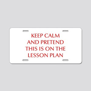 KEEP-CALM-LESSON-PLAN-OPT-RED Aluminum License Pla