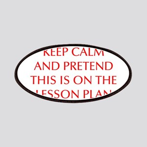 KEEP-CALM-LESSON-PLAN-OPT-RED Patches